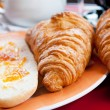 Coffee and croissants - Foto de Stock