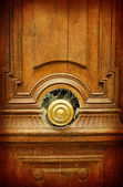 Old-fashioned wooden door — Stock Photo
