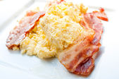 Omelet with ham — Photo