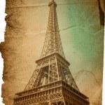 ouderwetse Parijs Eiffeltoren — Stockfoto