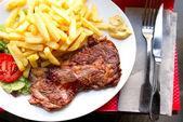 Sulu biftek beef — Stok fotoğraf