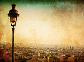 Old-fashioned paris Montmartre — Stock Photo