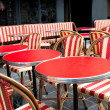 Street view of a coffee terrace - Stock Photo