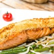 Grilled salmon — Foto Stock