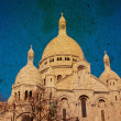 Sacre-Coeur church in Montmartre, - Foto de Stock