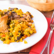 Traditionnal spanish food paella — Stock Photo #13632665