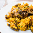 Traditionnal spanish food paella — Stock Photo #13632678