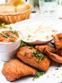 Chicken nuggets — Stockfoto