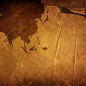 Aged asia map vintage — Stockfoto
