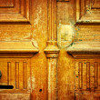 Old-fashioned wooden door - Stock Photo