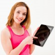 Woman using tablet PC — Stock Photo #14488689