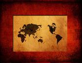 Mapa nowa sztuka świata — Zdjęcie stockowe