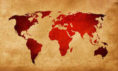 Karalama vintage dünya haritası — Stok fotoğraf