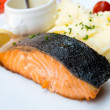 Grilled Salmon — Stock Photo #16403117