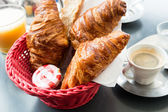 Breakfast with coffee — Stockfoto