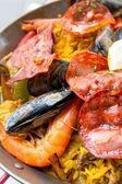Spanish food paella — Stock Photo