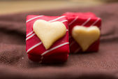 Love sweet heart chocolates — Stock Photo