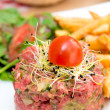 Tasty tartare(Raw beef) — Foto Stock