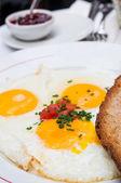 подготовленные яйцо — Стоковое фото