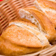Bread in basket — Stock Photo