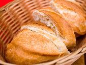 Bread in basket — Foto Stock