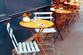 Traditional Parisian coffee — Stock Photo