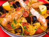 Traditionnal spanish food paella — Stock Photo