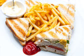 Sandwich with chicken — Stock Photo