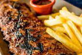 Gegrilde steak — Stockfoto