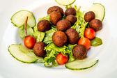 Meatball on white plat — Stock Photo