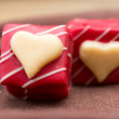 Love sweet heart chocolates — Stock Photo