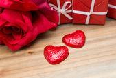 Chocolate, gift box — Stock Photo