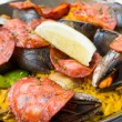 Traditionnal spanish food paella — Stock Photo