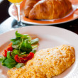 Omelet with ham - Stockfoto