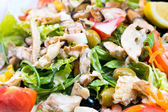 Fresh seafood salad — Stock Photo