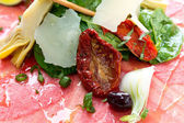 Fresh Sliced raw beef — Stock Photo