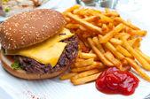 Americký hamburger — Stock fotografie