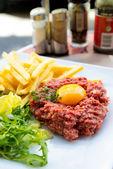 Tasty Steak tartare — Stock Photo