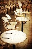 Staromódní café terrace — Stock fotografie