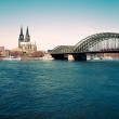 View on Cologne Cathedral and river Rhine — Stock Photo #25722627