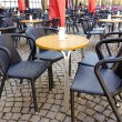 Street view of a coffee terrace - Stock fotografie