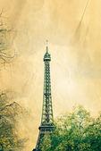 Retro style Eiffel Tower — Stock Photo