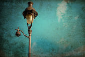 Retro style antique lampstand — Stock Photo