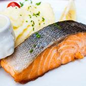 Grilled Salmon — Stok fotoğraf