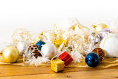 Christmas balls decoration — Stock Photo