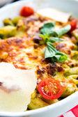 Tasty Baked Italian pasta — Stock Photo