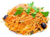 Pasta salsa sabrosa carne pasta-italiano — Foto de Stock