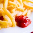 Stock Photo: Golden French fries