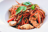 Plate of asian cuisine wok — Stock Photo