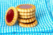 Erdbeeren kekse — Stockfoto